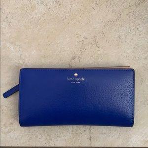 Bright blue Kate spade wallet
